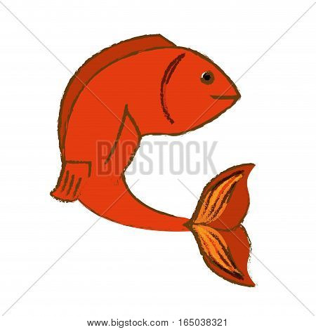 colorful fish icon image vector illustration design