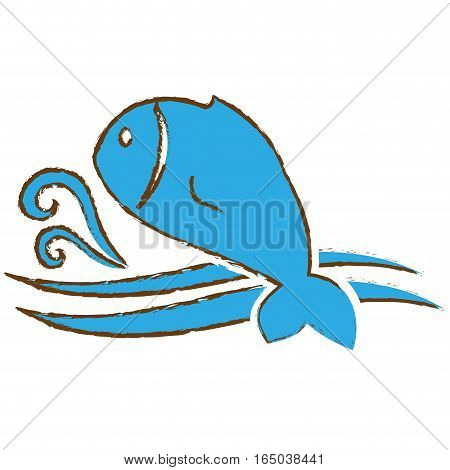 abstract fish emblem image vector illustration design