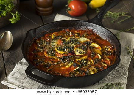 Homemade Ratatoulle With Eggplant And Tomato