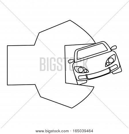 car repair workshop emblem icon image vector illustration design