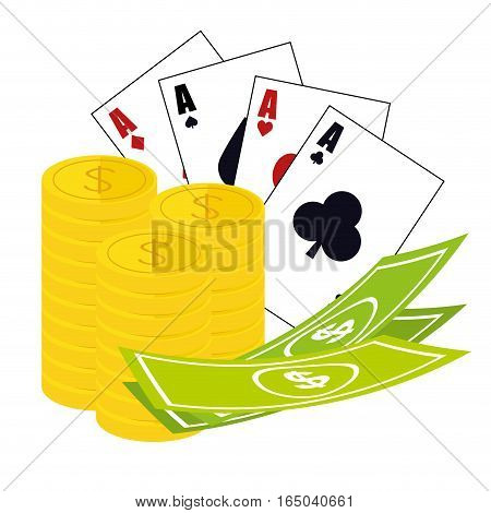 card game casino related icons image vector illustration design
