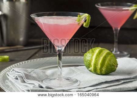 Homemade Pink Vodka Cosmopolitan Drink