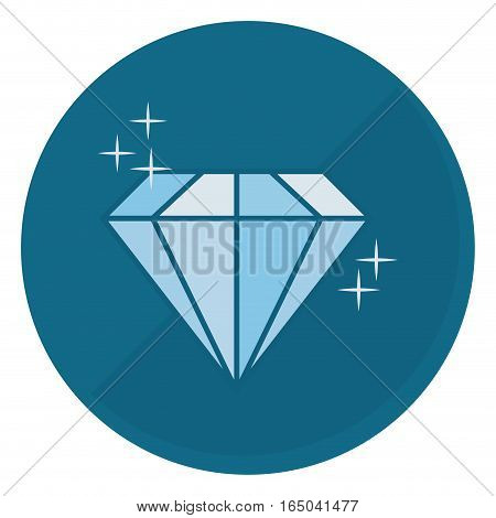shiny diamond emblem  icon image vector illustration design
