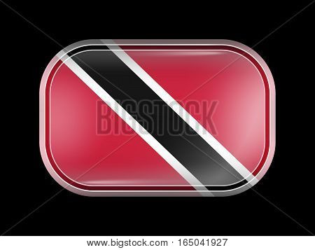 Flag Of Trinidad And Tobago. Rectangular Shape With Rounded Corners