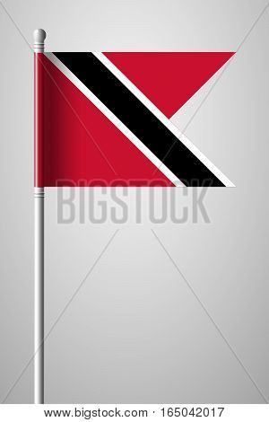 Flag Of Trinidad And Tobago. National Flag On Flagpole
