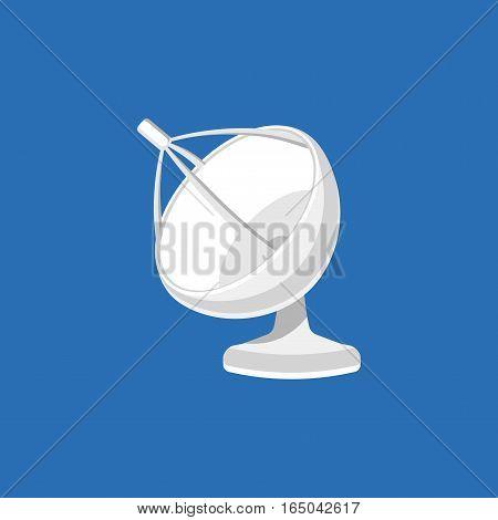 Satellite dish. Satellite GPS device Symbol. Antenna icon. Isolated vector illustration.