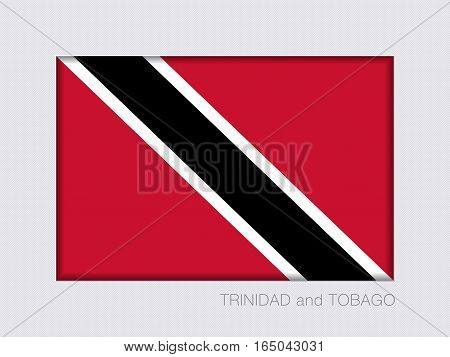 Flag Of Trinidad And Tobago. Rectangular Official Flag. Aspect Ratio 2 To 3