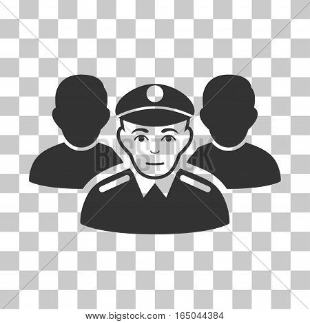 Army Team vector icon. Illustration style is flat iconic gray symbol on a chess transparent background.