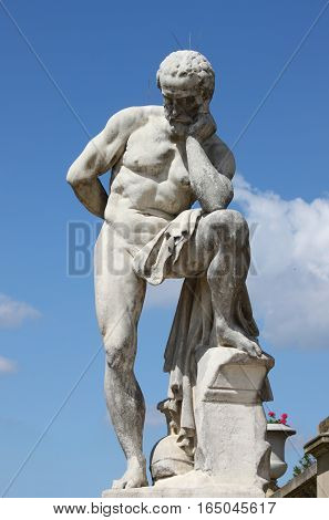 The statue in Luxembourg garden. Paris, France