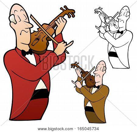 Classic violin player with a superior attitude