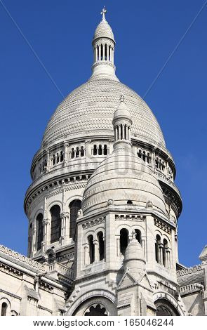 Domes of the Basilica of the Sacre Coeur in Paris, France