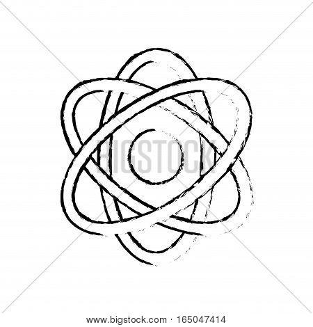 Atom science molecule icon vector illustration graphic design