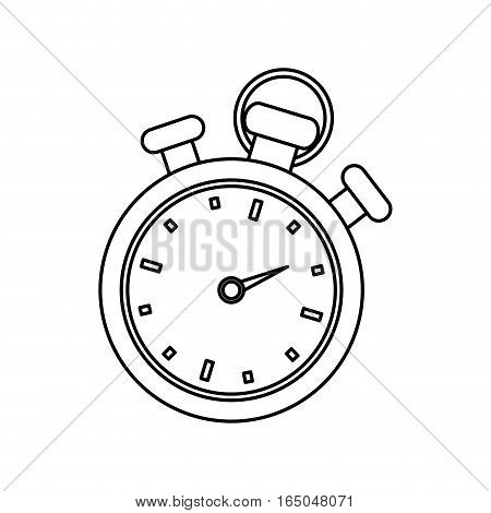 Isolated timer chronometer icon vector illustration graphic design