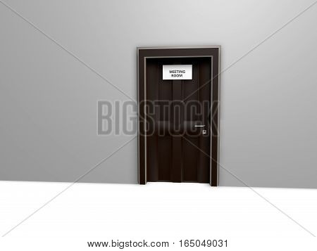 Three dimensional background with rooms and names