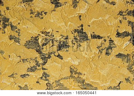 yellow and black plaster testure , abstract architectural background
