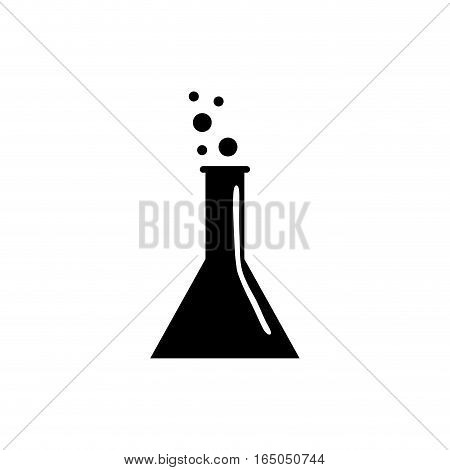 Chemistry flask glass icon vector illustration graphic design