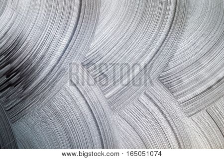 Silver Pearl Texture On A White Wall