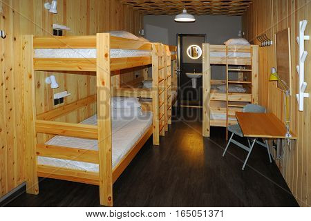 Hostel Room Interior