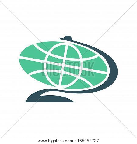 Globe Flat Sign Isolated. Planet Earth Symbol