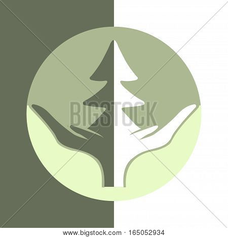 Eco logo for business. Flat design. Environmental protection.