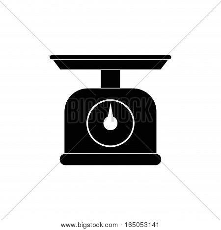 kitchen scale balance icon vector illustration graphic design