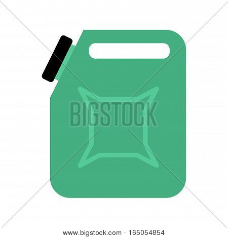 Canister Isolated. Jerrican Of Gasoline On White Background. Container For Fuel