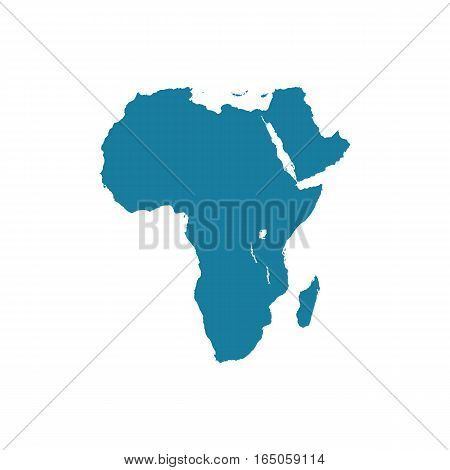 africa vetor blue map isolated on white background