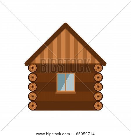 Wooden house vector construction illustration. Window architecture old nature residential mansion design. Rustic outdoor building village property facade.