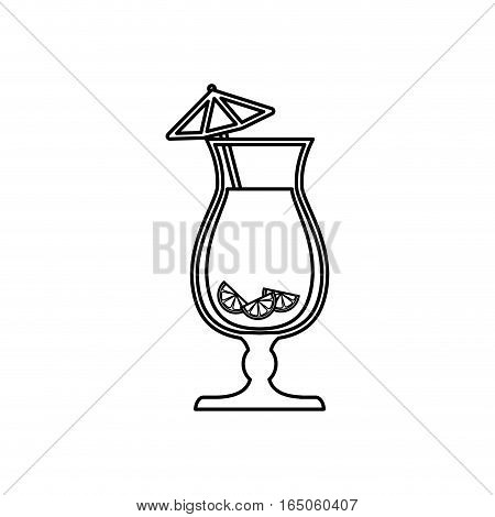 Cocktail glass cup icon vector illustration graphic design