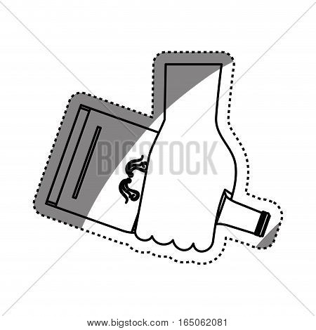 Whisky glass bottle icon vector illustration graphic design