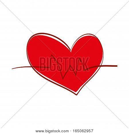 Heart medical healthcare icon vector illustration graphic design