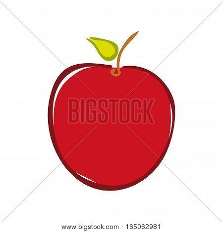 Delicious apple fruit icon vector illustration graphic design