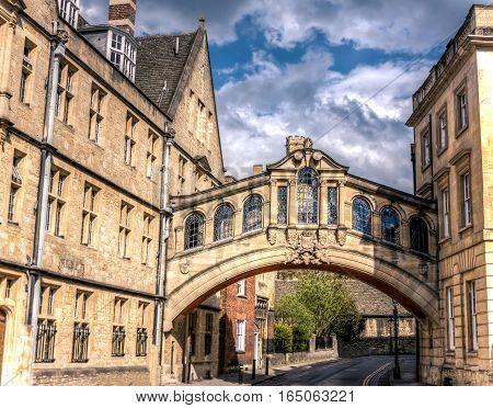 Hertford bridge best known as the Bridge of Sighs in Oxford England