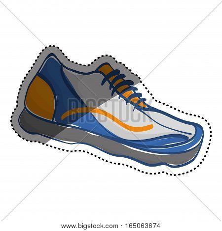 Sport sneaker isolated icon vector illustration graphic design