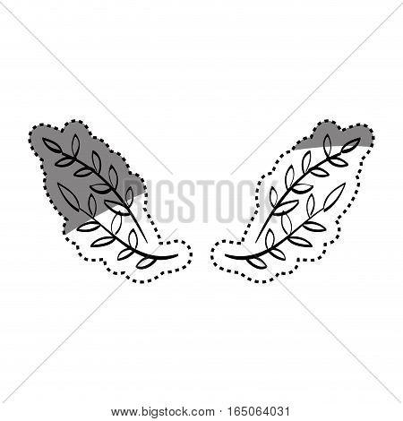 Leaves wreath decoration icon vector illustration graphic design