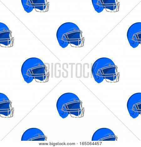 Helmet icon cartoon. Single sport icon from the big fitness, healthy, workout cartoon. - stock vector