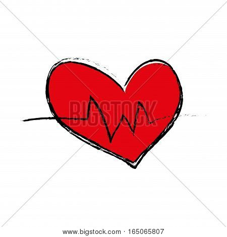Heart medical healthcare icon vector illustration graphic design