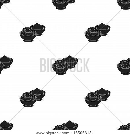 Wasabi and ginger icon in  black style isolated on white background. Sushi pattern vector illustration. - stock vector
