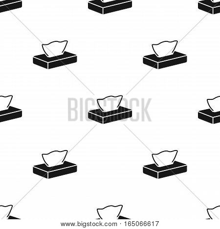 Napkin icon black. Single tattoo icon from the big studio black. - stock vector
