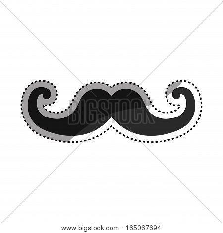 Vintage gentleman mustache icon vector illustration graphic design