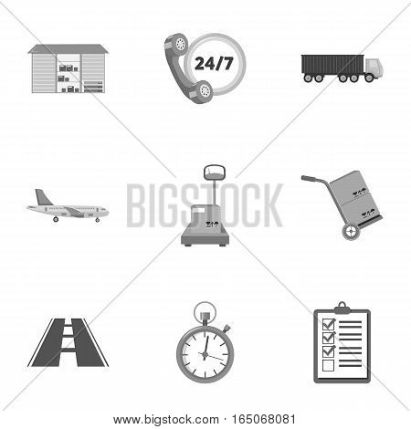 Logistic set icons in monochrome style. Big collection of logistic vector symbol stock
