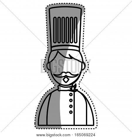 Chef hat profile icon vector illustration graphic design