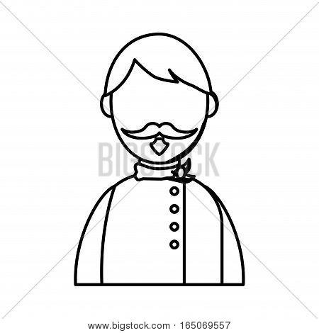 Chef male profile icon vector illustration graphic design