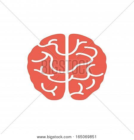 Isolated human brain icon vector illustration graphic design