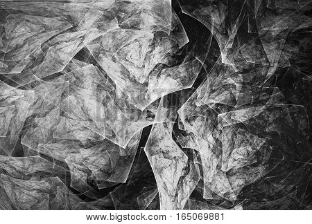 Fractal generated image of slate gray rock textures.