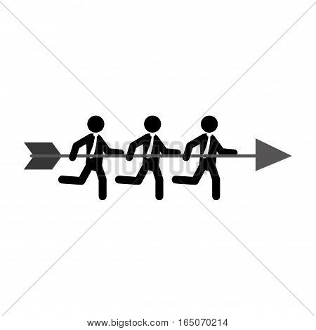 Businessman running pictogram icon vector illustration graphic design