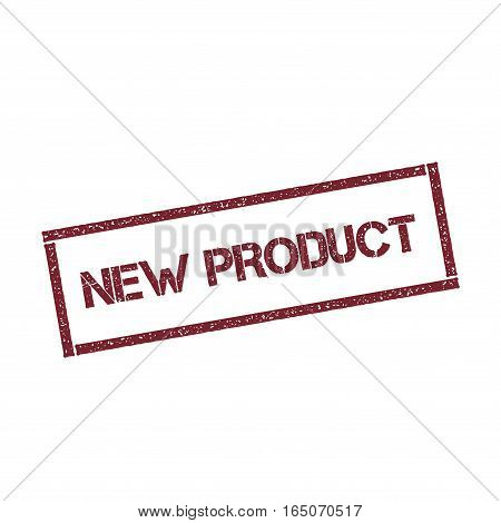 New Product Rectangular Stamp. Textured Red Seal With Text Isolated On White Background, Vector Illu