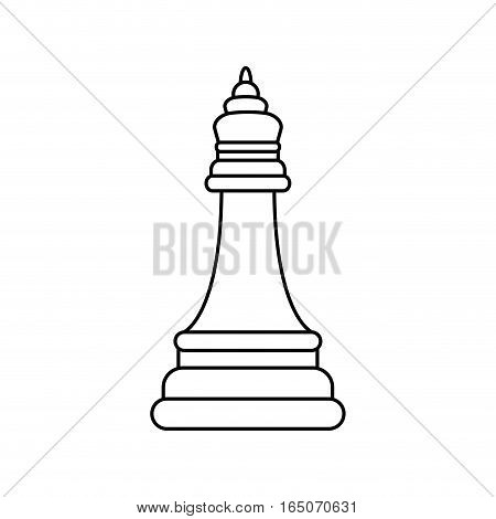 chess piece bishop icon vector illustration graphic design