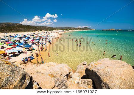 The Wonderful Beaches Of Bay Chia, Sardinia, Italy.