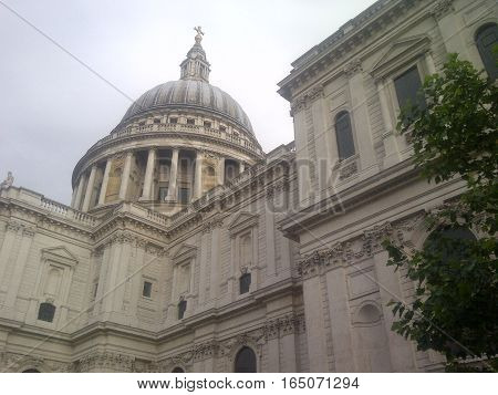 LONDON, UK - JUL 14: St Paul Cathedral in London, UK, as seen on July 14, 2012. It is an Anglican cathedral, the seat of the Bishop of London and the mother church of the Diocese of London.